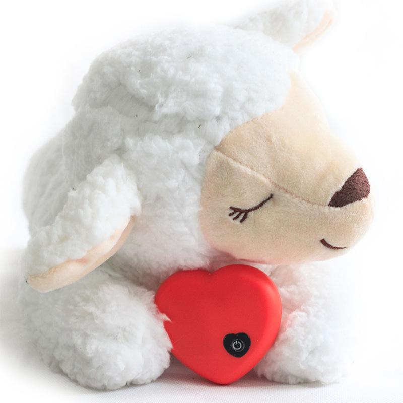 Pet anxiety companion sleep toy Dog interactive plush heartbeat cat toy pet toy Q0113