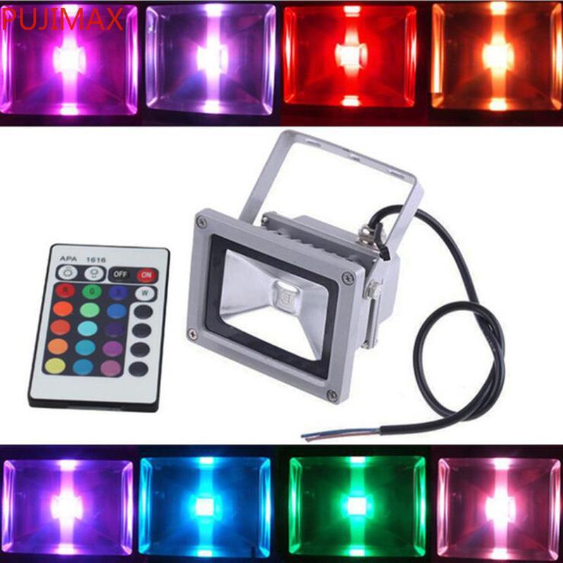 10W на открытом воздухе RGB светодиодный водонепроницаемый IP66 лампа с 24 ключей Пульт дистанционного управления AC 110-240V Энергосберегающая светлая лампа