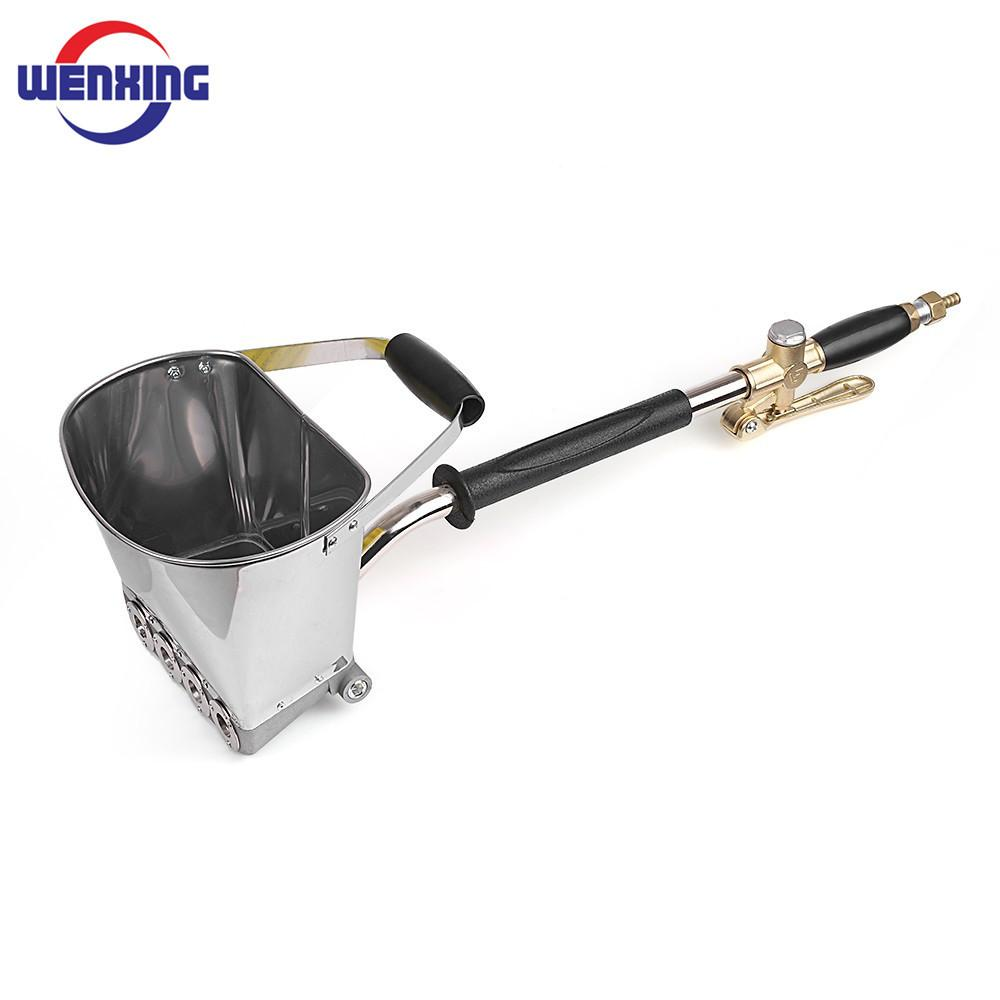 Wenxing для окраски стен цементного раствора Спрей Рендер Распылитель Хоппер ковша Гипс пистолет 64см Q1107