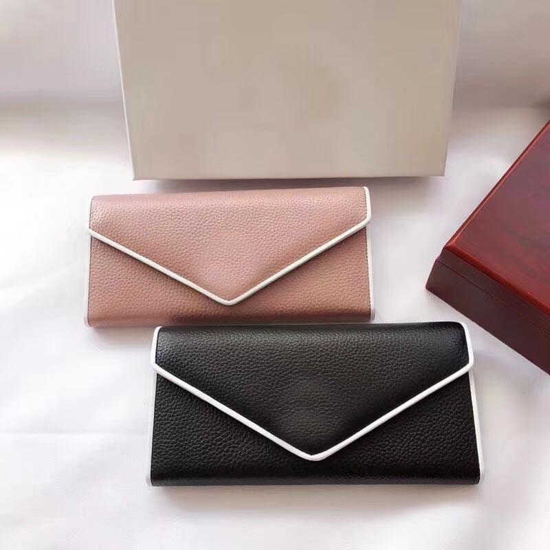 Lady Moda Rahat Fermuar Iki Çanta Stil Kredi Çantası Cüzdan Uzun Kadın Cüzdan Telefon Kart Varış Renkler Yeni Stil QxLMX