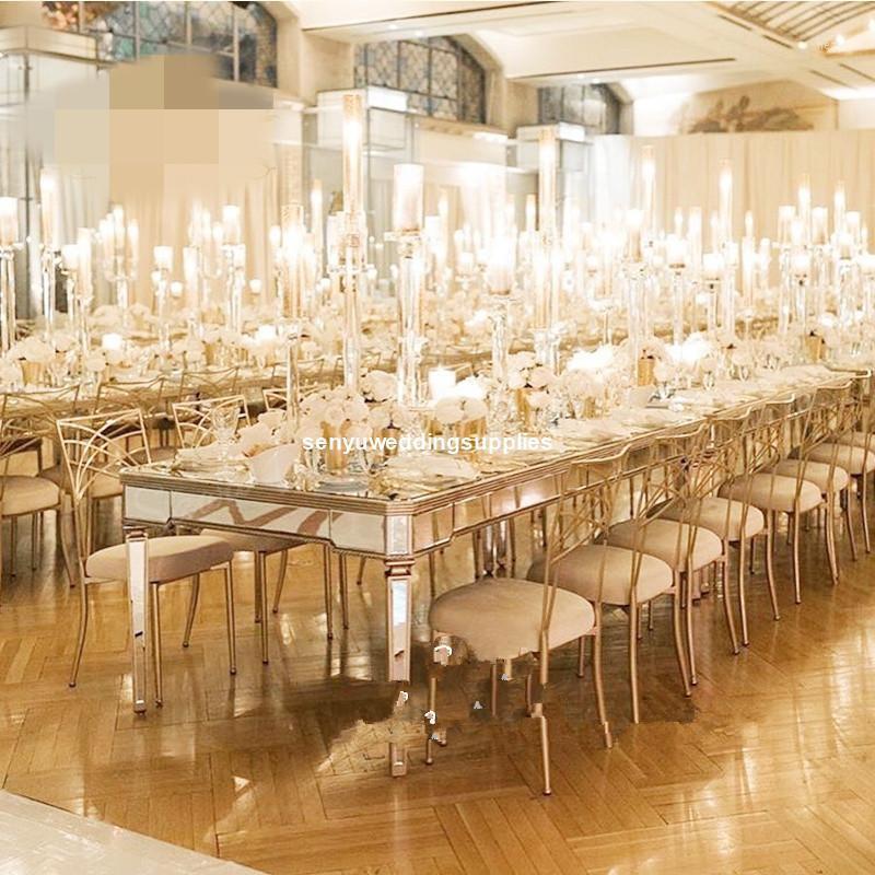 4 brazos) matrimonio transparente claro acrílico flor stand cristal 4heads candelabra mesa de boda mesa senyu19561