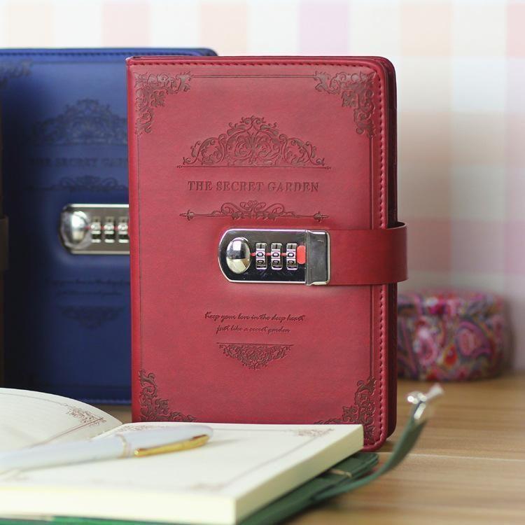Notepads الرجعية كلمة المرور دفتر مغلق يوميات القرطاسية رحلة مدرسية دفتر المدرسة