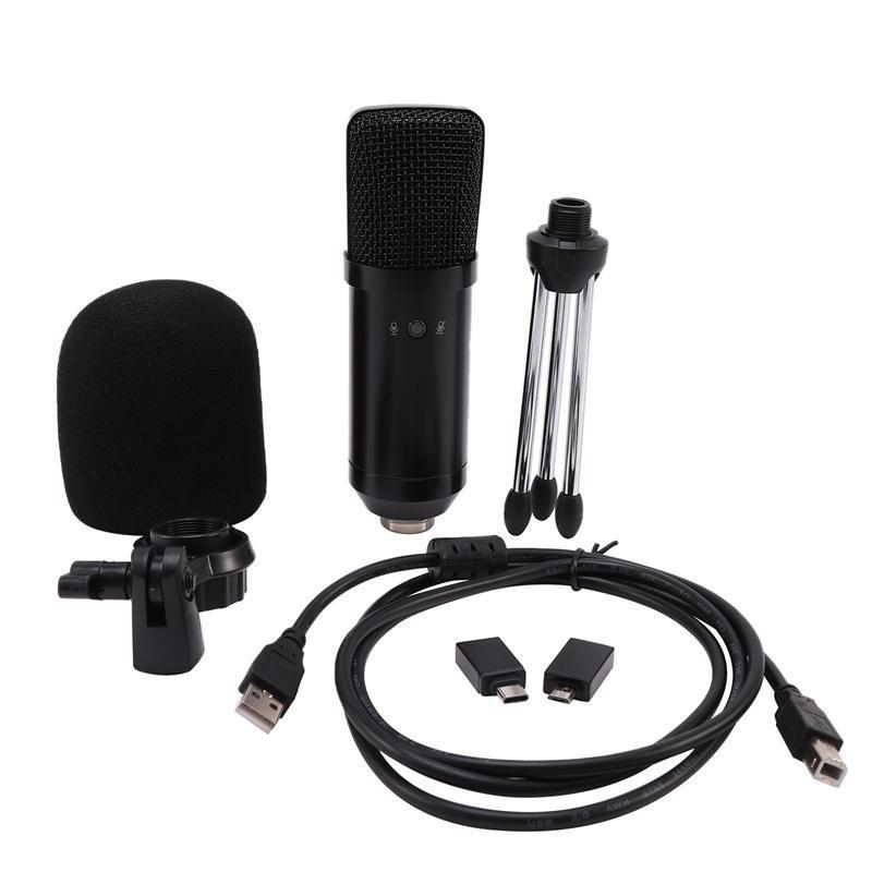 Profissional USB Microfone Condensador BM-750USB Wired Microfone Computador Móvel ao Vivo K Canção chat do jogo Gravação Micr