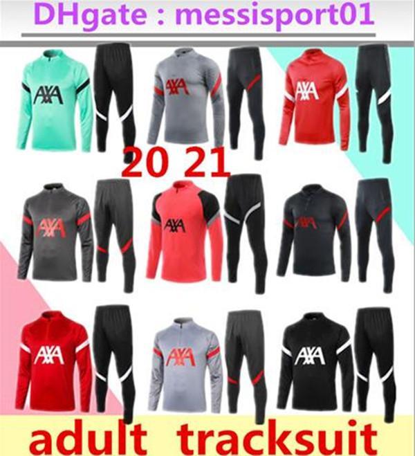 2020 2021 liverpool chándal tuta Soccer Training Suit Jersey 2020/21 Tute lunghe di calcio del manicotto set 2020 2021 formazione uniforme vestito