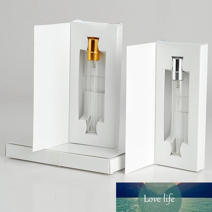 5ML 10ML frasco de vidro de perfume Atomizador Parfum Spray de Frasco com embalagem Amostra Box Cosmetic Vial recarregáveis garrafas SN1368