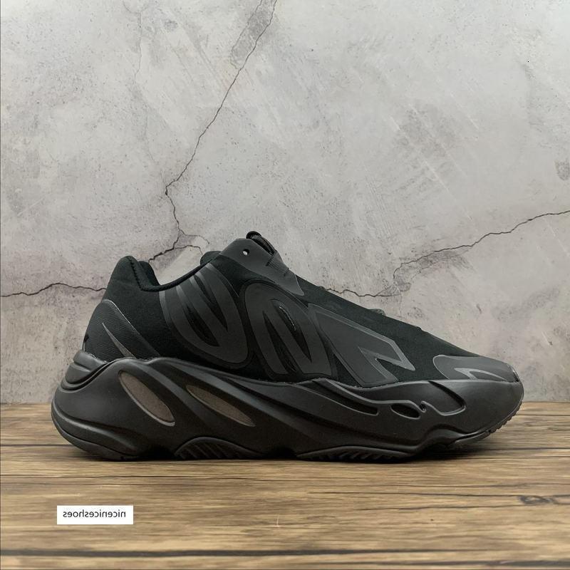 700 Wave Runner MNVN Triple Negro zapatillas de deporte del oeste del kanye de la zapatilla de deporte zapatos para correr entrenador niños jóvenes mujeres de los hombres botas de entrenadores reales FV4440 con la caja
