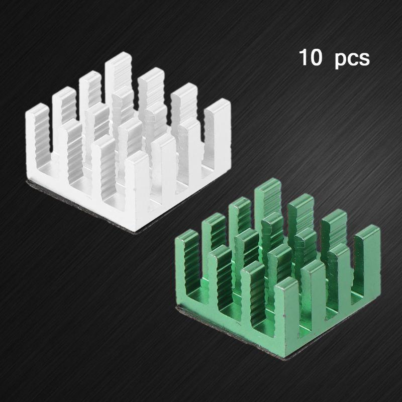 10PCS Alluminio Dissipatore di calore del radiatore di raffreddamento per elettronica Chip del computer dissipazione di calore Cooling Pad