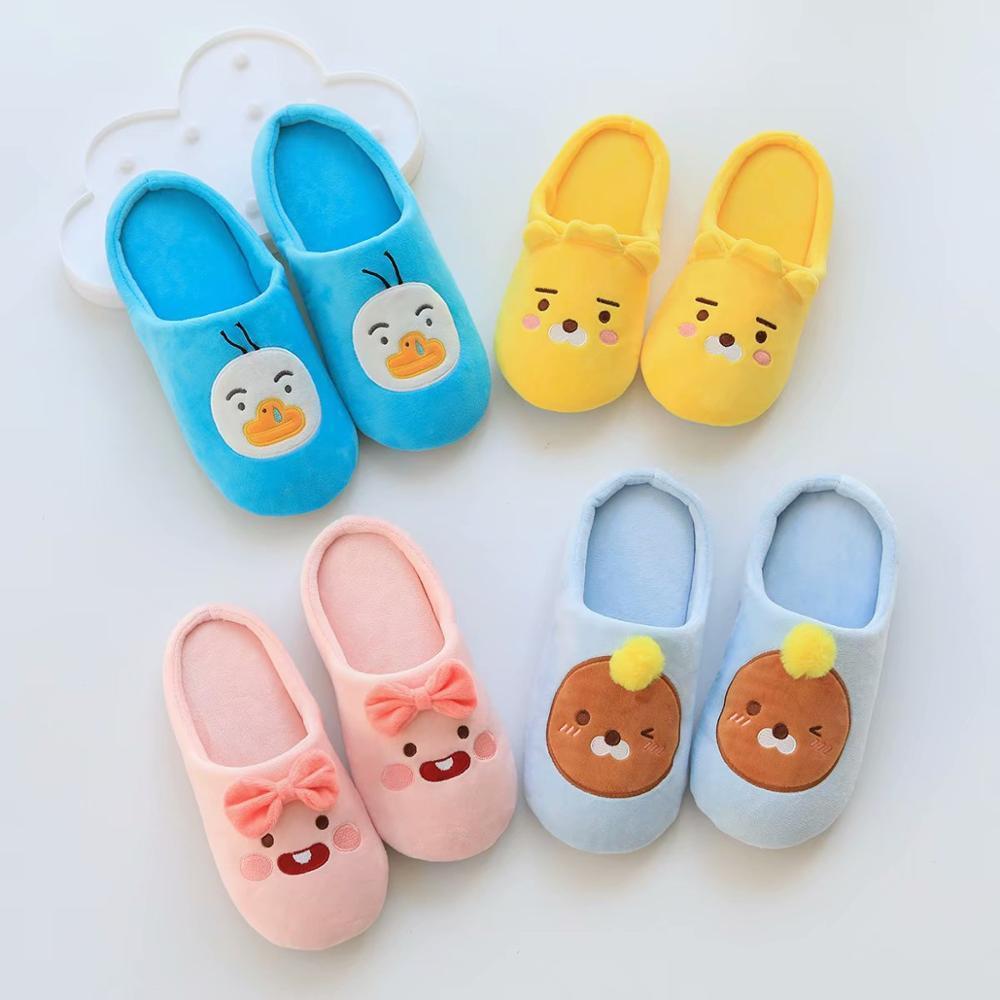 Kakao pantofole donna inverno pantofole per la casa dei cartoni animati antiscivolo morbido inverno caldo casa pantofole da camera da letto coperta amanti coppie pavimento x1020