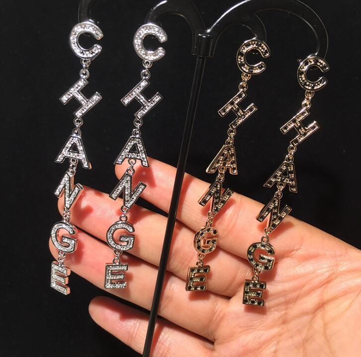 cuelga los pendientes coreanos c letras pendientes boho largas pendientes de la manera accesorios pendiente de las mujeres joyerías de la joyería de Corea del Sur
