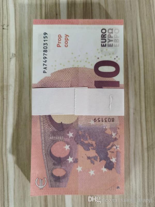 Simulation Spielzeug Film Euro Prop Shooting Spielzeug Münze Geld Euro 10 Hot-Selling Simulation Banknote Münze 10 und Fernsehen Hot-Selling 01 Pro UITG