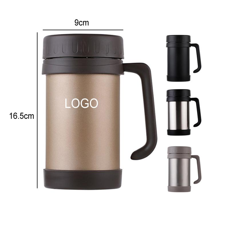 Cheapest Custom 17oz Car Office Coffee Mug Double Wall Insulate Vacuum Drinking Water Tumbler Leakproof Stainless Steel Tumbler FWD2265