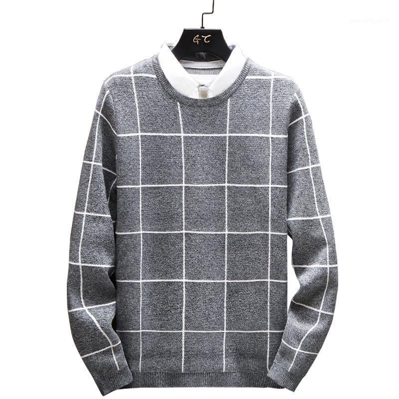 Suéteres para hombre Sweat Slim Sweater Mantenga los hombres cálidos 2021 Invierno Casual moda de punto masculino en forma de estilo coreano para hombres1