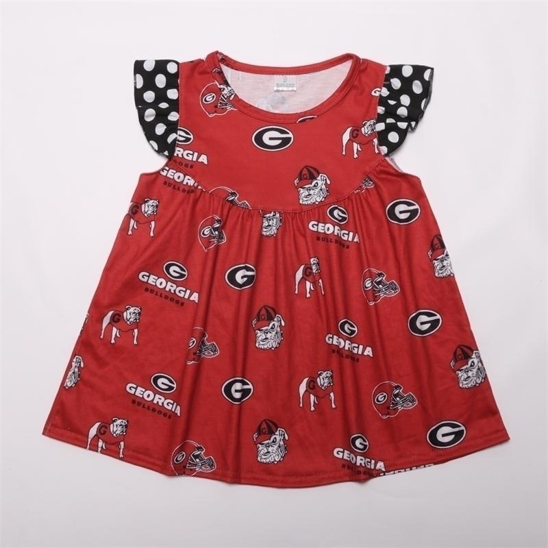 New Design Football Abbigliamento per bambini Set di vestiti per bambini Cutey vestiti fiore stampa modello spedizione gratuita 2GK908-1479 Y200325