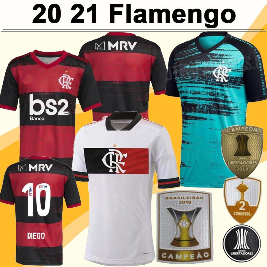 20 21 Flamengo DIEGO RIBEIRO Mens Soccer Jerseys GUERRERO H. DOURADO GABRIEL VINICIUS JR Home Football Shirt Camisetas de Futebol