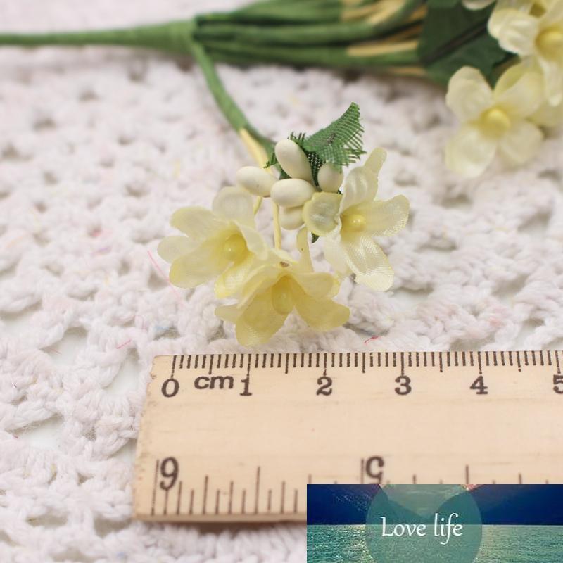 Respiração Atacado 12PCS Mini Tecido Cherry Plum Blossom flor artificial bebê Silk