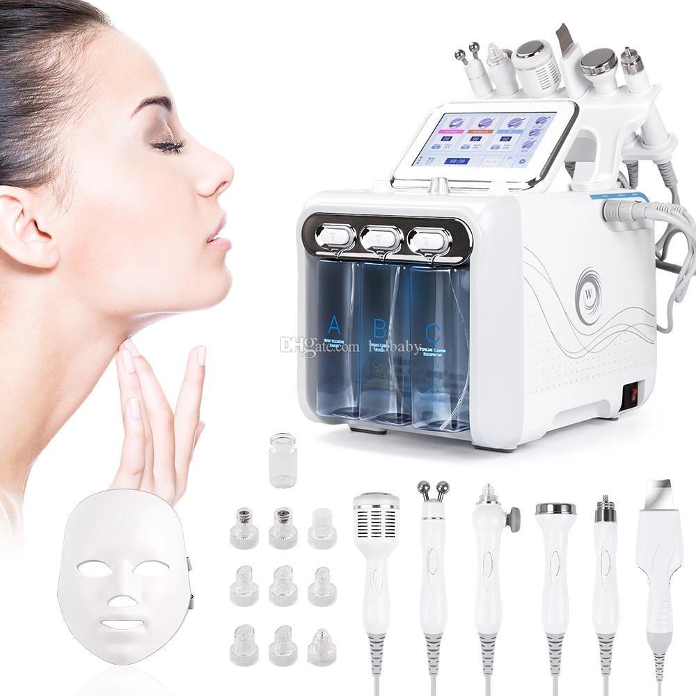 7 in 1 bio rf martello idro microdermoabrasione acqua idra dermoabrasione spa poro della pelle del viso macchina per la pulizia