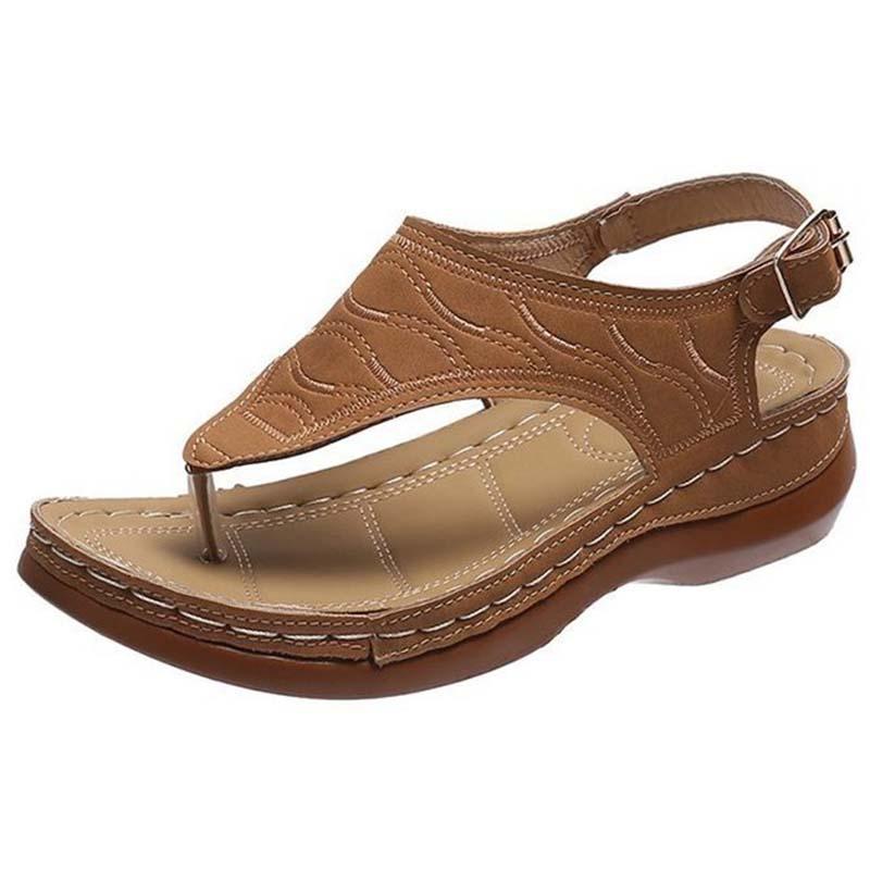 Sandali Donna 2021 Retro Roma Flip flip flops scarpe tacco basso Casual confortevole signore sandalias mujer