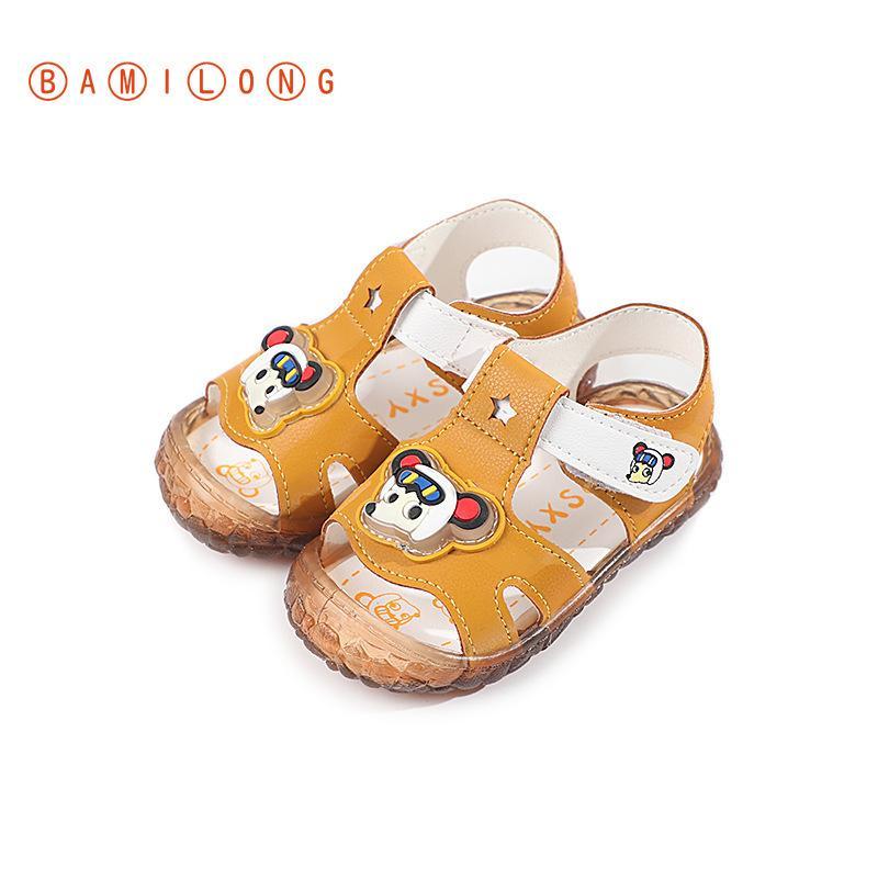 Летняя мода Baby Boy обувь для девочек мультфильм Симпатичные PU Мягкие донные сандалии малышей Первый ходунки Детская обувь S80