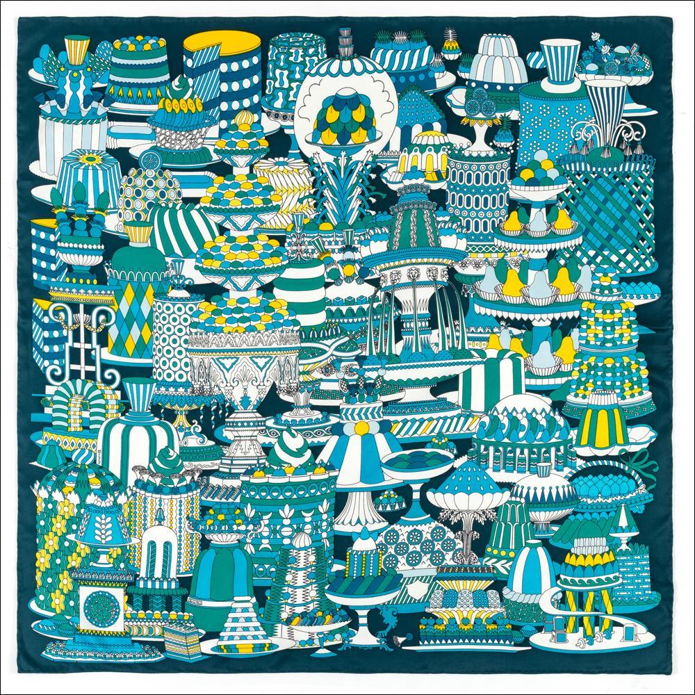 Écharpe de teinture Écharpe 90 Écharpe en soie Top Écharpes Satin Col Foulard Fleur Femme Handmade Bleu Double face Bandana Classic Taille Taille Écharpes