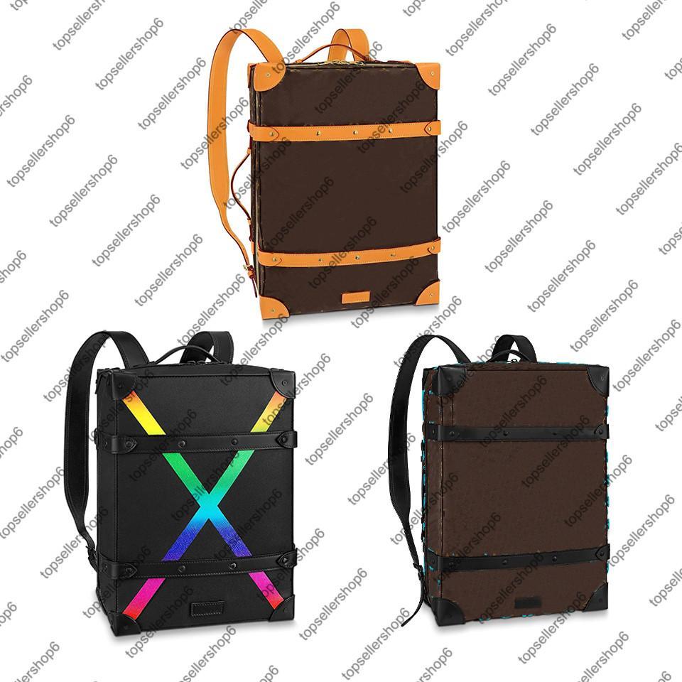 Top M45077 мешок мягкий багажник рюкзак мм Натуральная кожа теленка кошелек холст радуга X мужчин женщин M30337 ручки Tote Satchle PM M44749 LUGGA RTUD