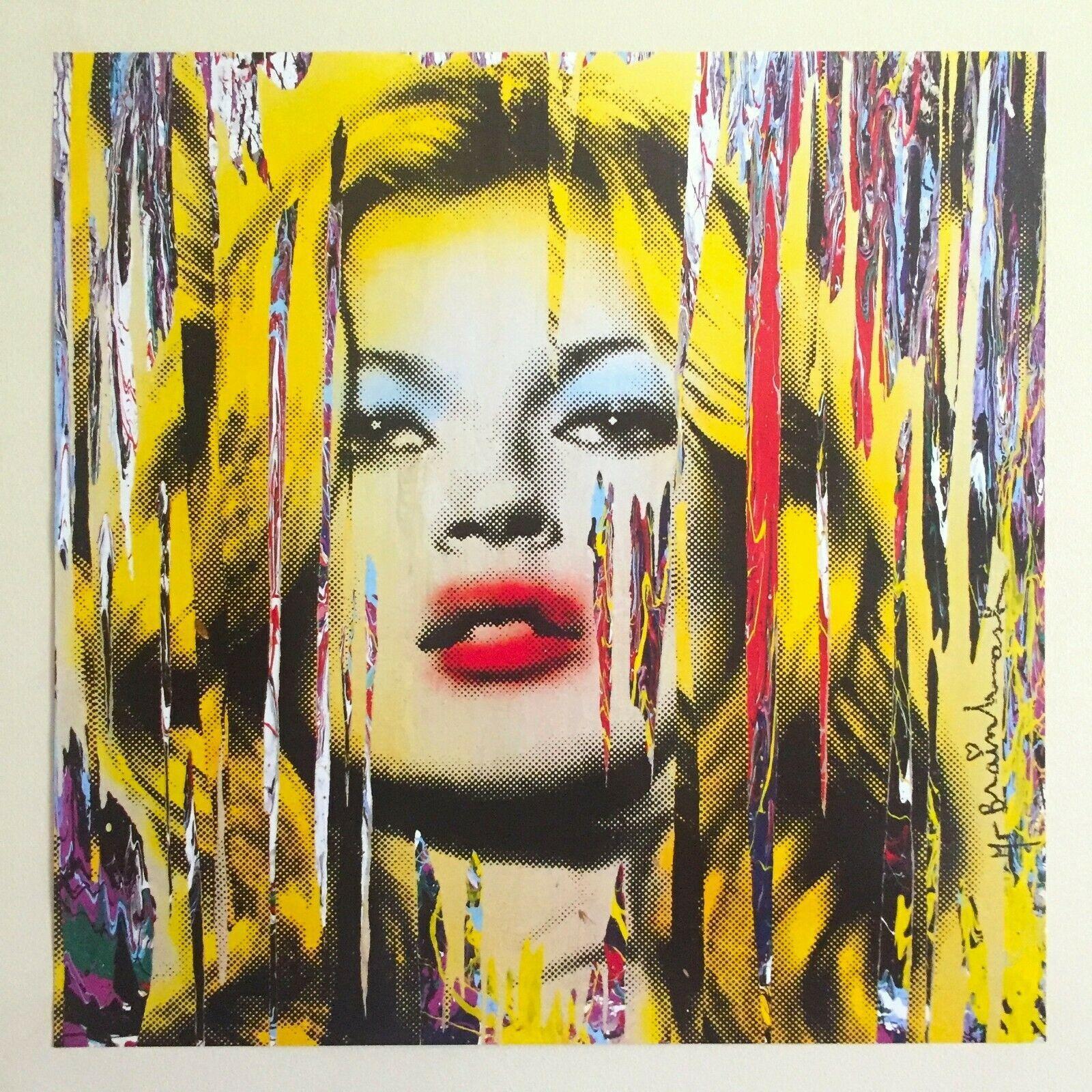 M. BRAINWASH « KATE MOSS » Home Décor Artisanats / HD huile d'impression Peinture Sur Toile Art mur toile Photos 201026