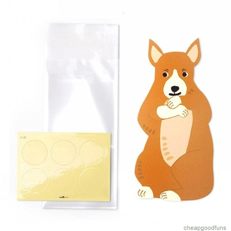 U Fox Fox Cookie Packaging Cute Candy Cabit Bear Bolsas de plástico de dibujos animados para galletas Paquete de hornado de bocadillos con CA 1U