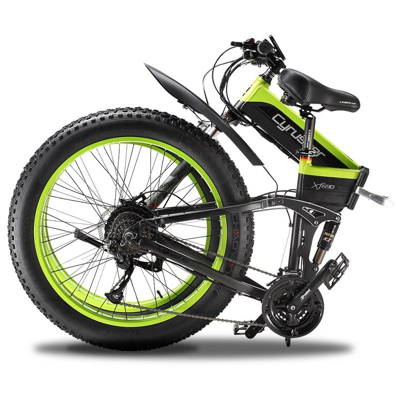 cyrusher XF690 1000W Folding Fat Tire Hydraulic elektrisches Fahrrad Folding Elektro-Bike Rennrad Fahrrad