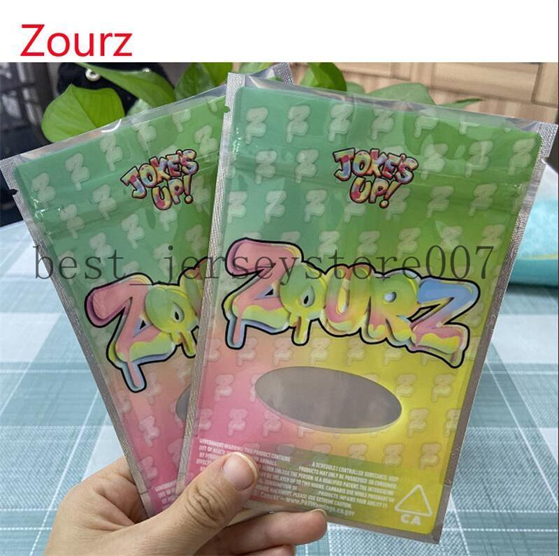Joke è alto! Borsa da imballaggio Runtz per Herb Dry Zourz Mylar Bags odore borse a prova di odore 420 Stand up Pouch 3.5G 2021FE