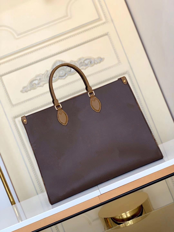 Mulheres luxurys designers bolsas m45320 senhoras tote ontheego sacos de compras por atacado bolsa de moda clássico letter bolsa 36 41cm em movimento