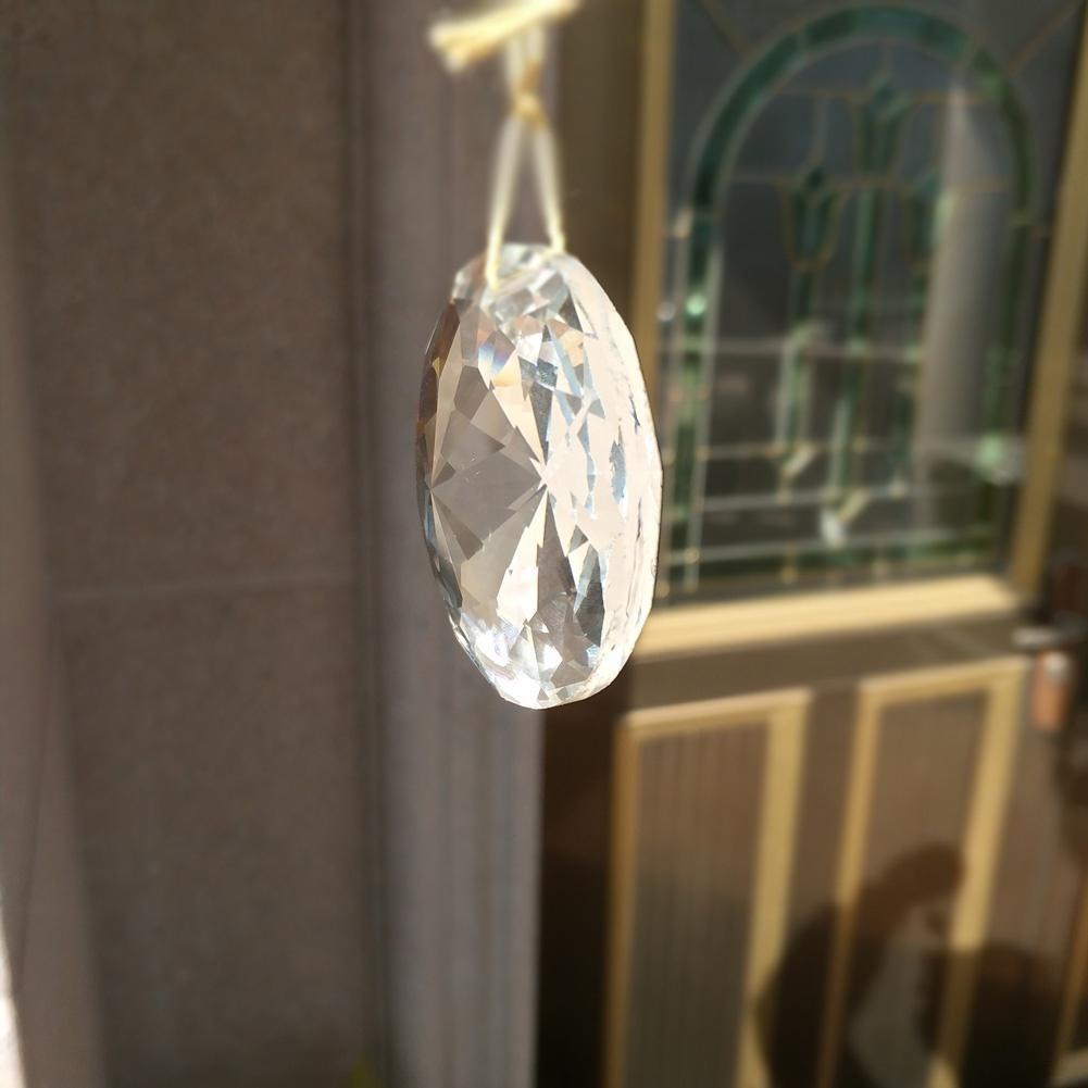 1pc Bling Suncatcher rond Art Sun Charm Cristal Pendentif Crystal Pending Lampe PRISM PARISME PARTIS DIY 45MM HOME DÉCOR H QYLLMKK