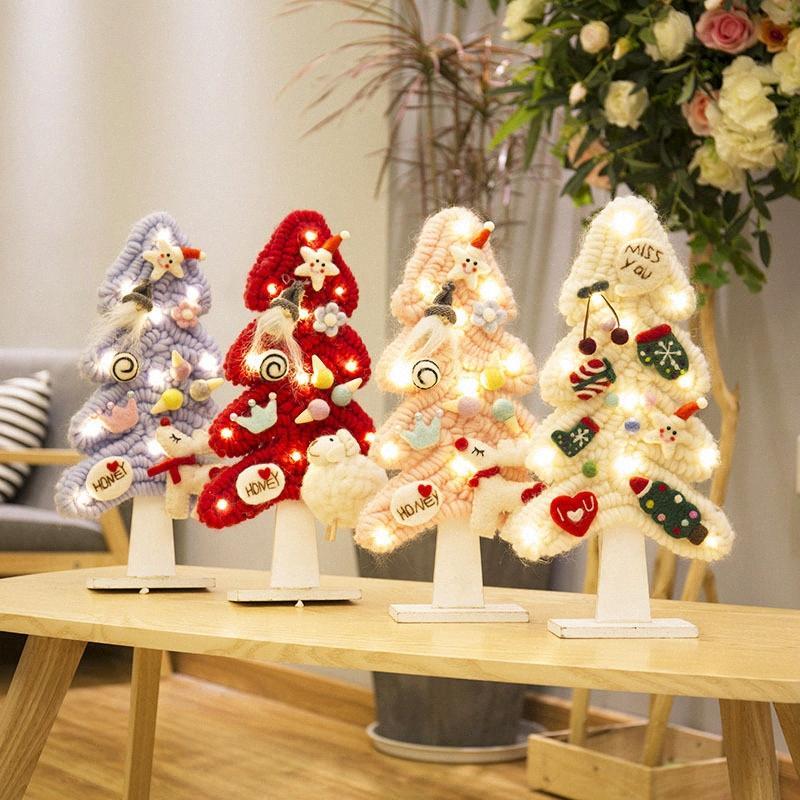 Корейский и японский Wool Felt Ёлочные украшения Настольные украшения DIY материалы Празднуйте товары Искусственные дерево ryEi #