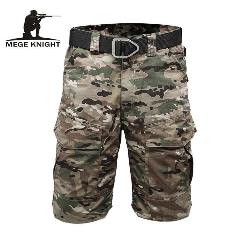 MeGe Knight Marque Tactical Hommes Militaire Camouflage Court Multi Poche Été Respirant Respirant Homme Secual Sèche Casual Pantalon court Y200831