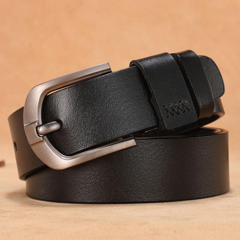 Ремни мужские натуральные кожаные ремень высокого качества мужской сплав сплава пряжка мужская деловая ретро молодежная талия для джинсов