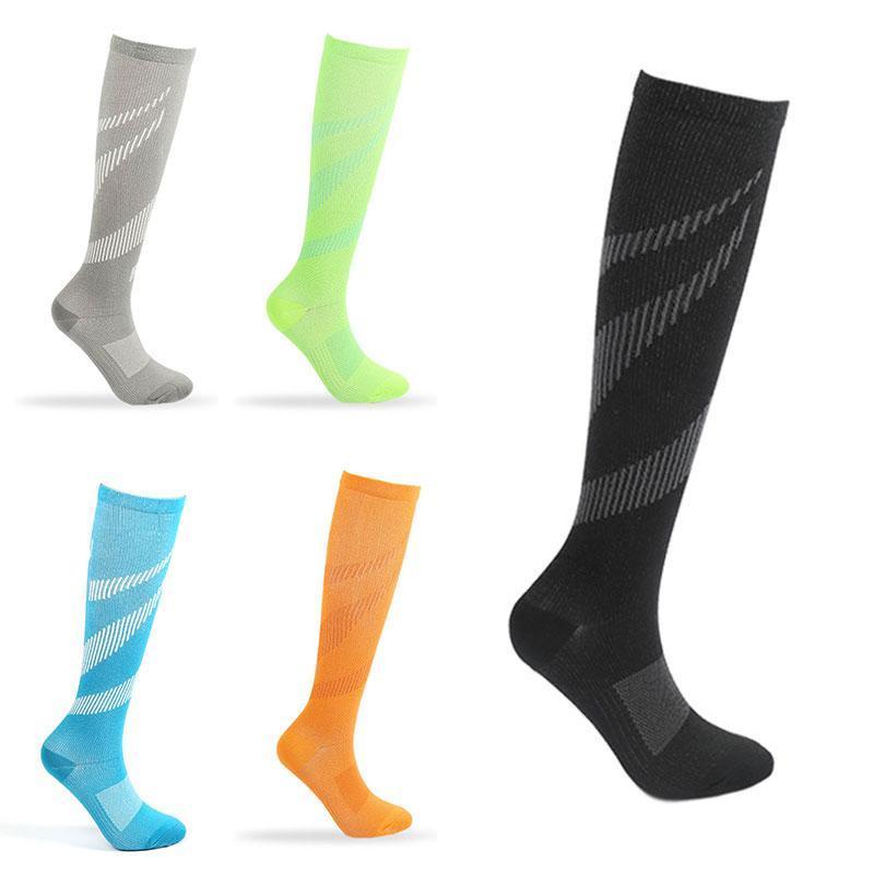 Unisex Compression Sock Meias Anti Fadiga Alívio da Dor veia varicosa Circulation Sock For Men Viagem Ao longo do joelho Socks