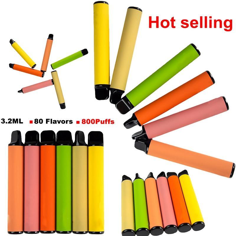 Venta al por mayor Popular Vape Vape Pen 3.2ml Carros de aceite 550mAh Batería Prepare Dispositivo Preparente PODS VACÍO DESECHABLE E Cigarrillos Vapes desechables