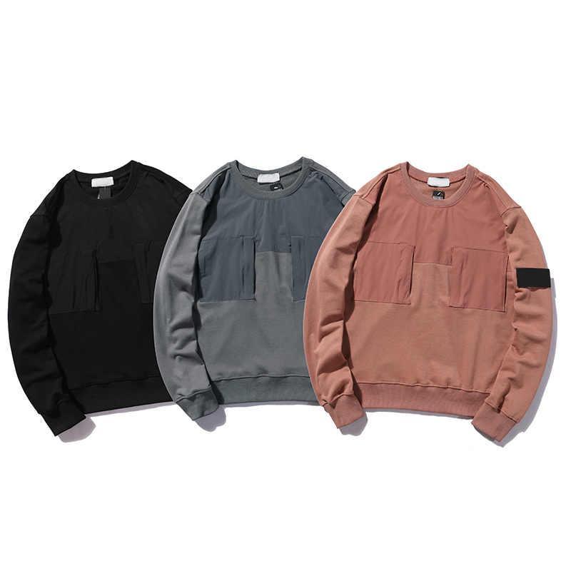 Patchwork Moda Sonbahar Erkek Tişörtü Yüksek Kalite Streetwear Hoodies ile 20SF Erkekler Kadınlar Casual Hoodie
