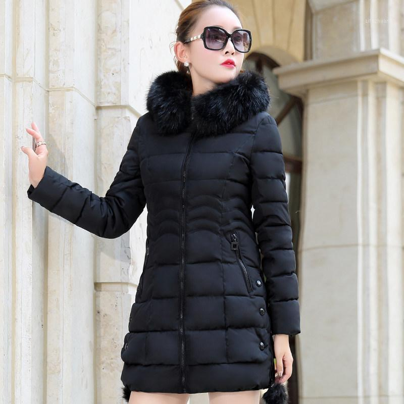 2021 Faux Pelz Parkas Frauen Daunenjacke Plus Größe Womens Parkas Verdicken Oberbekleidung Mit Kapuze Wintermantel Weibliche Jacke Baumwolle Padded1
