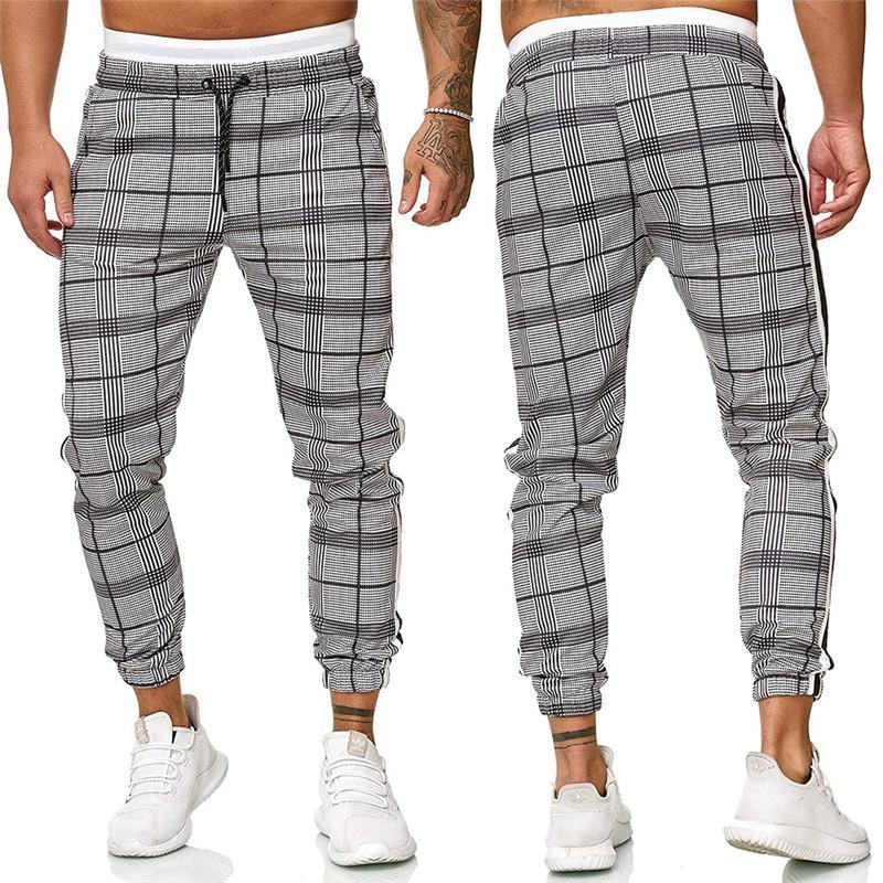 2021 İlkbahar Sonbahar Erkek Tasarımcı Pantolon Panelli Palid İpli Gevşek Uzun Pantolon Moda Casual Erkek Giyim