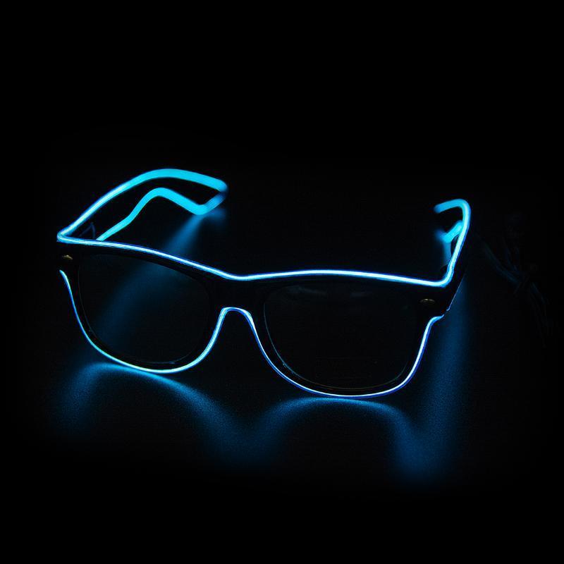 Fontes Brilho Sunglasses Led Óculos Festa Neon piscando Óculos EL Fio de incandescência Gafas Luminous Bril novidade presente Brilhante
