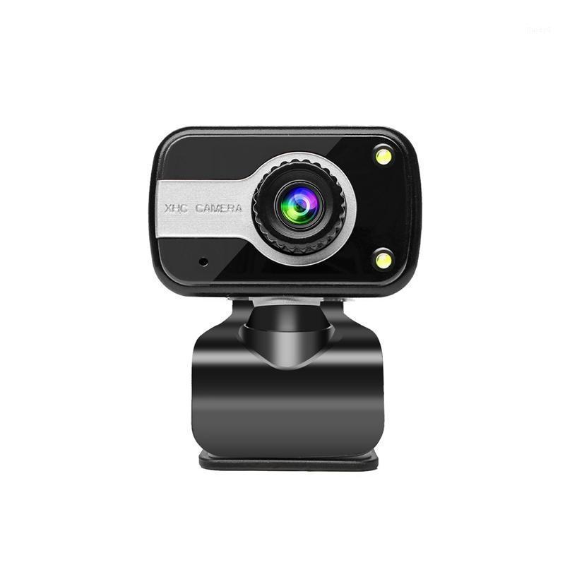 WebCams HD USB-камера с клипми Бесплатный привод Компьютерный веб-микрофон (480p) 1