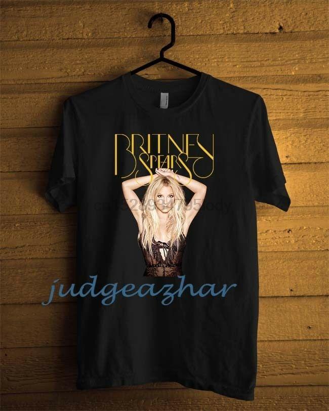 Homens de Britney Spears Glória Album Cover Preto personalizado Usa Tamanho S 2xl hoodie de designers de camisetas camisola