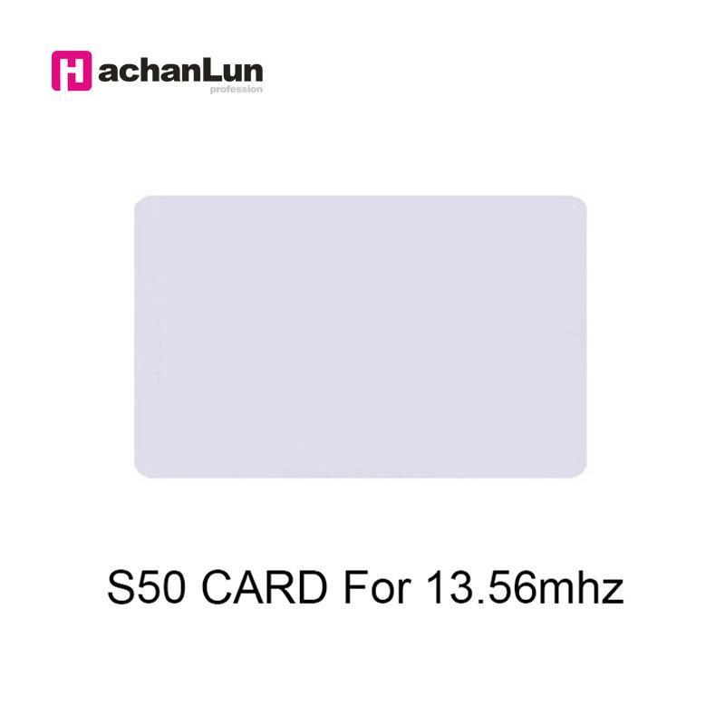 Carte de contrôle d'accès 50pcs / lot 13.56mHz Tag 0.8mm pour la fréquentation du temps MF S50 Système ISO14443A Proximité IC Smart Thin