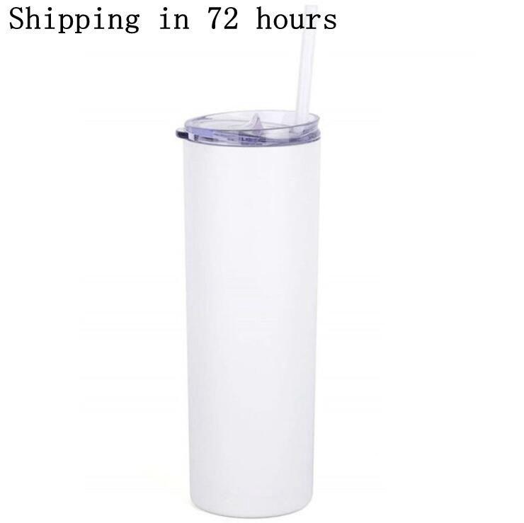 승화 스키니 텀블러 20oz 뚜껑 짚 20 온스 스테인레스 스틸 마시는 컵 진공 절연 컵 주식