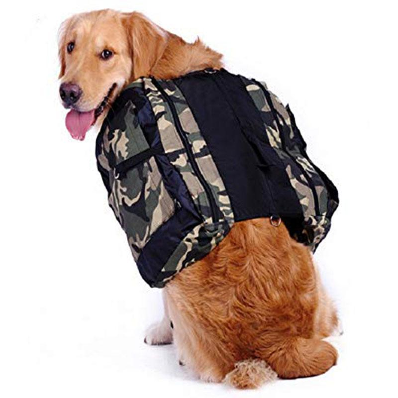 Outdoor Große Hundebeutelträger Rucksack Satteltaschen Camouflage Big Dog Travel Carriers Für Wandertraining Pet Carrier Produkt