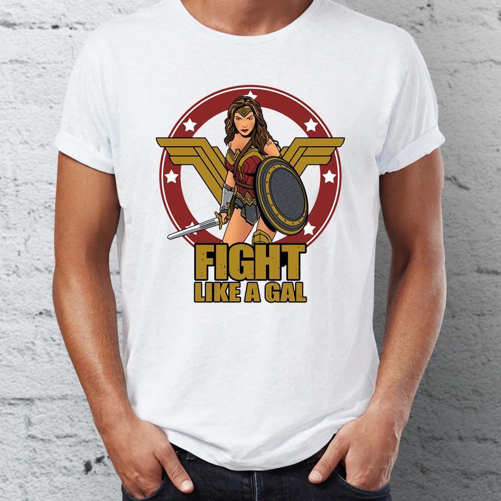 Hombres camiseta que ofrece la Mujer Maravilla Lucha como un superhéroe de DC Gal T deporte Sudadera con capucha