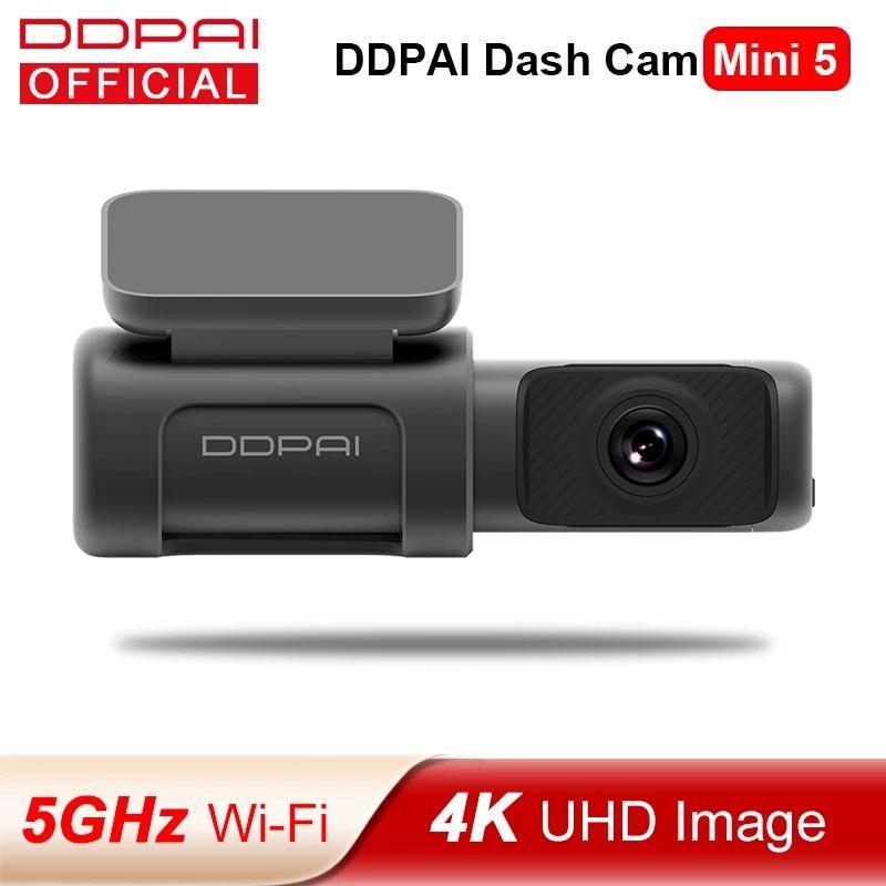 DDPAI داش كاميرا مصغرة 5 سيارة dvr uhd dvr الروبوت سيارة كاميرا 4K بناء في واي فاي gps 24h وقوف السيارات 2160P السيارات محرك السيارة مركبة فيديو المعدل mini5