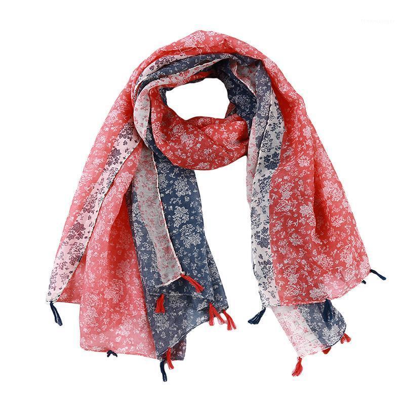 여성 브랜드 기하학적 격자 무늬 술 Viscose Shawl 스카프 가을 겨울 보헤미안 디자인 Bandanas 여성 이슬람교 히 자브 Sjaal1