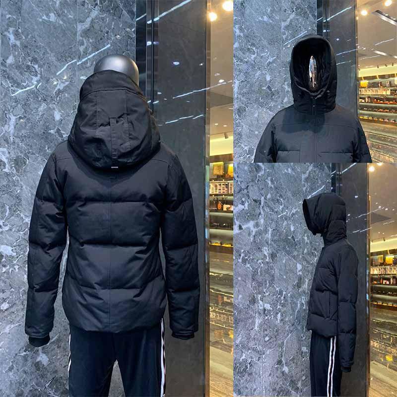 Inverno Giù Giacche Giacche Parka Inverno Inverno Giù Parks Giacca calda con cappuccio Black Down Giacche Soprabito Cappotto caldo Cappotto Vestiti Dudoune Homme Parka