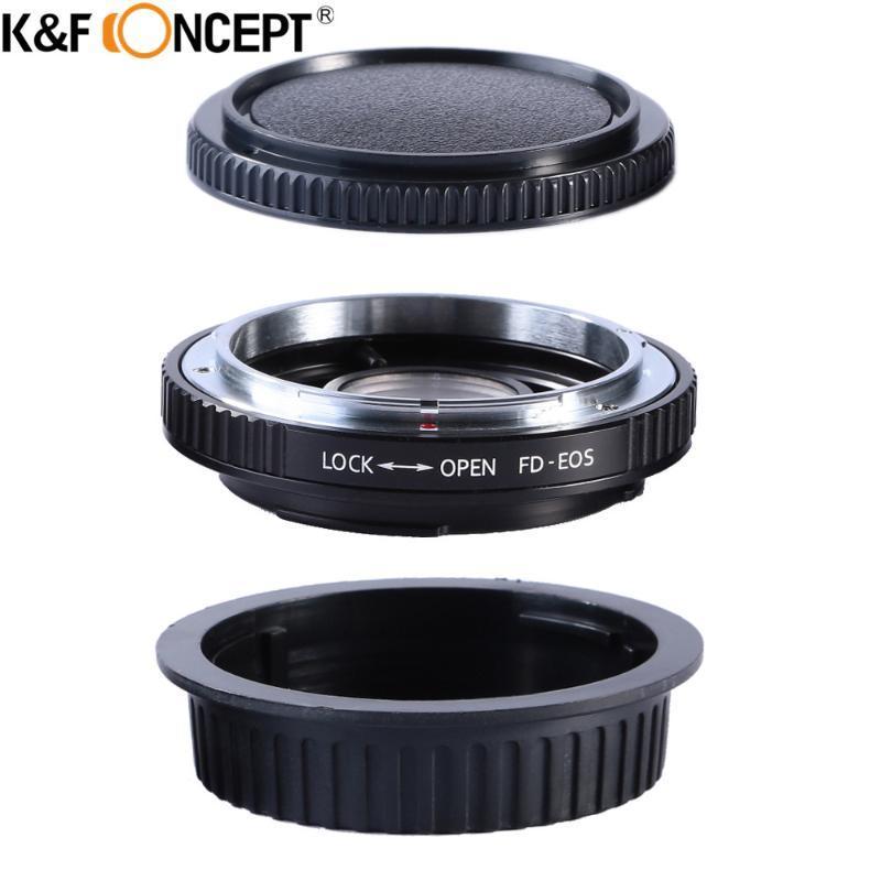 Адаптеры линзы крепления KF Concept Concept для FD-EOS адаптер камеры кольцо FD к EOS EF Mount с оптическим стекло фокусировкой бесконечности