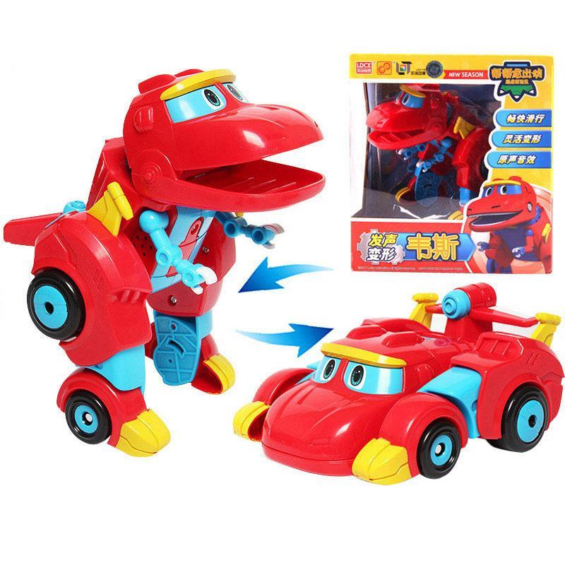 Новейшая большая деформация Big Deformation Gogo Dino Diano Фигурки с звуковым REX Transformation Car Airplane Motorboat Crane Dinosaur Toys 201202